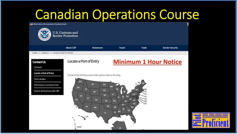 Canadian Operations Map