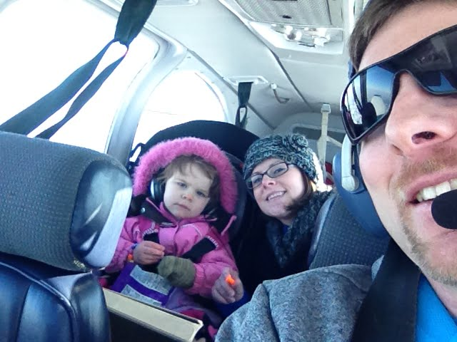 A family flight in a small plane